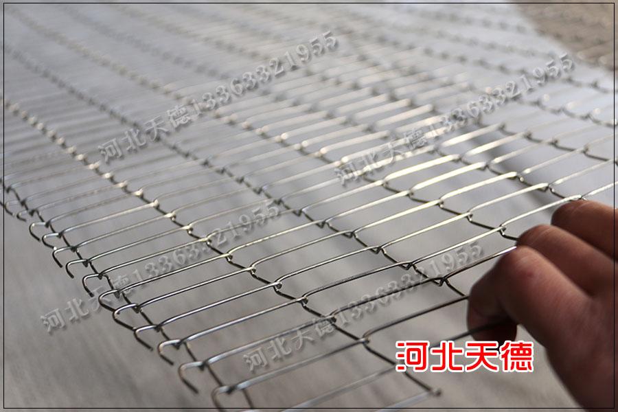 炸鸡输送线耐高温金属网带的使用效果