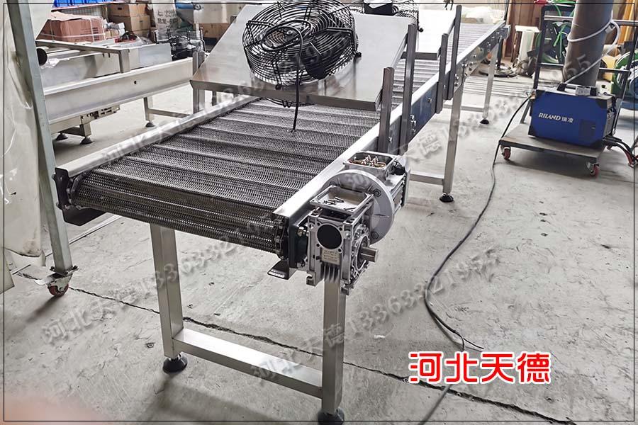 面筋输送链板输送机、链板输送线用于面食输送