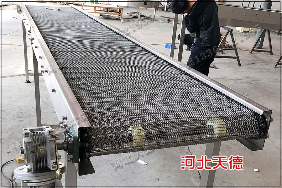 爆米花输送线链板输送机、板式不锈钢输送机