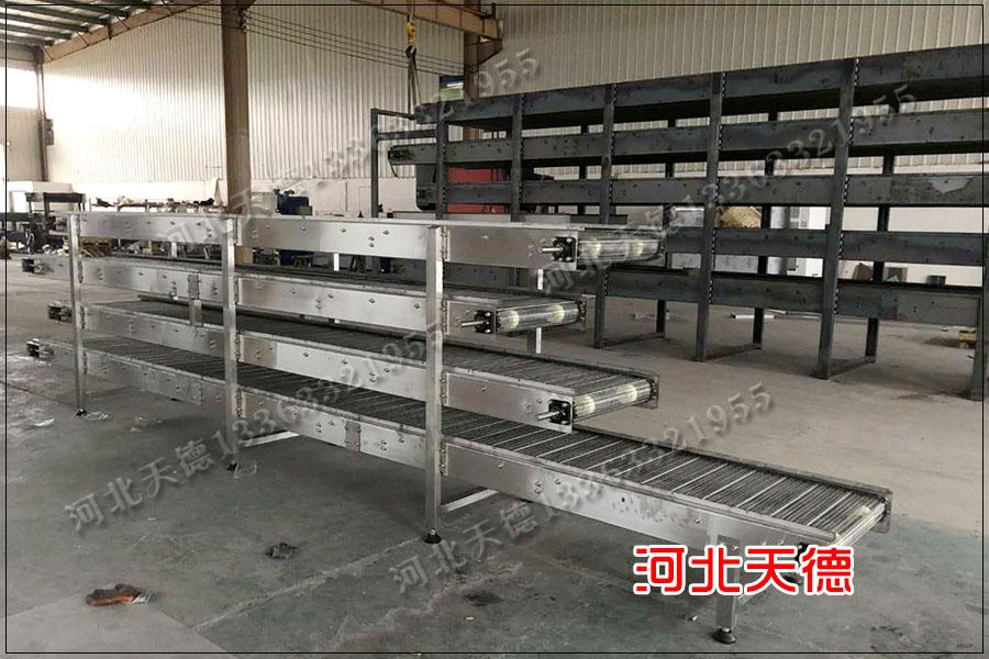 粉条蒸煮冷却线网带输送机、网链输送机厂家