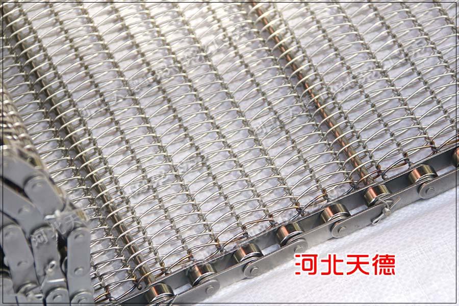速冻草莓清洗钢丝编织链条不锈钢网带