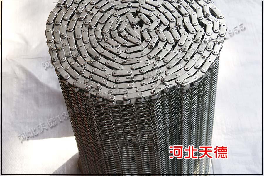 风干、冷藏、热处理输送线链条传送金属网带